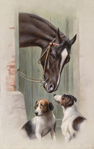 Art Prints of Visit to the Stables by Carl Reichert