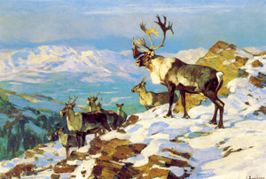 Art Prints of On the Upper Yukon Osborne by Carl Rungius
