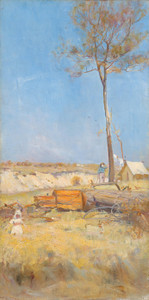 Art Prints of Under Southern Sun, Timber Splitters Camp, Australia by Charles Conder