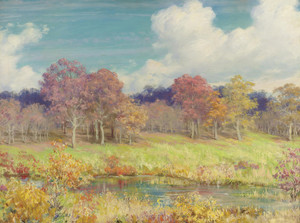 Art Prints of Autumn Landscape by Charles Courtney Curran