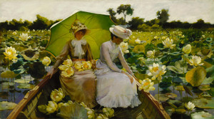 Art Prints of Lotus Lilies by Charles Courtney Curran