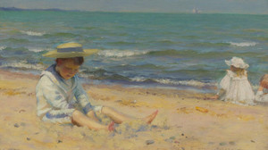 Art Prints of On the Beach, Lake Erie by Charles Courtney Curran