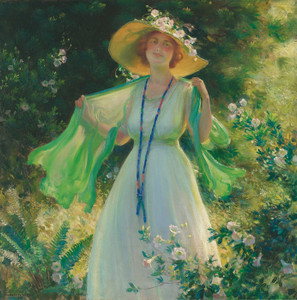 Art Prints of Path of Flowers by Charles Courtney Curran
