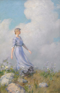 Art Prints of Windy Hilltop by Charles Courtney Curran