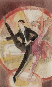 Art Prints of In Vaudeville, Two Dancers by Charles Demuth