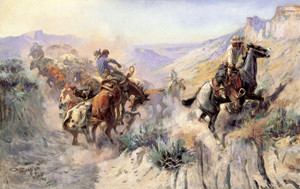 Art Prints of A Mix Up by Charles Marion Russell