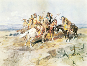 Art Prints of Approach of the White Man by Charles Marion Russell