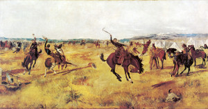 Art Prints of Breaking Camp by Charles Marion Russell