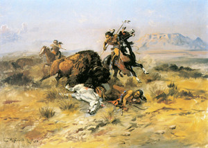 Art Prints of Buffalo Hunt II by Charles Marion Russell