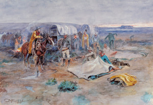Art Prints of Calling the Horses or Get Your Ropes, 1899 by Charles Marion Russell