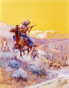 Art Prints of Indian Attack by Charles Marion Russell