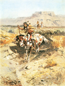 Art Prints of Indians on Horseback by Charles Marion Russell