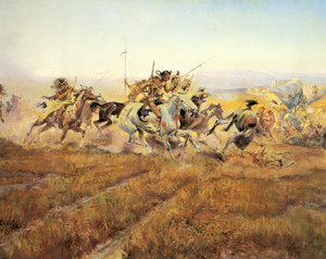 Art Prints of Jumped by Charles Marion Russell