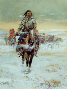 Art Prints of Moving On by Charles Marion Russell