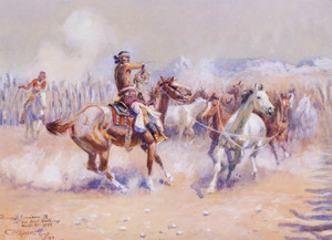 Art Prints of Navajo Wild Horse Hunters, 1919 by Charles Marion Russell