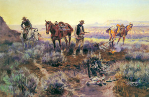 Art Prints of Paying the Fiddler, 1919 by Charles Marion Russell
