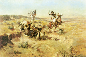 Art Prints of The Broken Rope by Charles Marion Russell