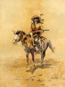 Art Prints of The Plainsman, 1898 by Charles Marion Russell