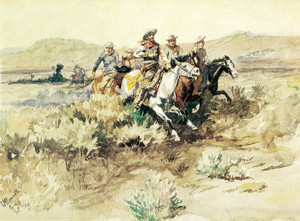 Art Prints of The Posse by Charles Marion Russell