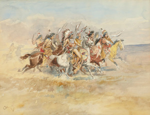 Art Prints of The War Party by Charles Marion Russell