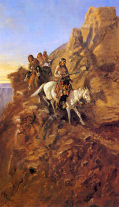 Art Prints of There May Be Danger Ahead by Charles Marion Russell