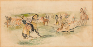 Art Prints of Round Up Camp by Charles Marion Russell