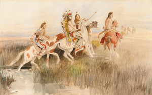 Art Prints of The Hunting Party by Charles Marion Russell