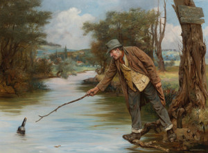 Art Prints of Taking the Risk, so near yet so Far by Charles Spencelayh