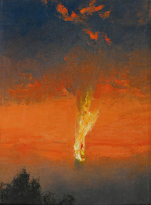 Art Prints of The Burning Zeppelin by Charles Spencelayh