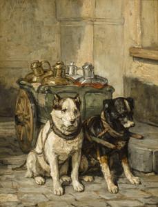 Art Prints of Cart Dogs by Charles Van den Eycken