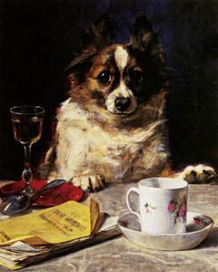 Art Prints of May I? by Charles Van den Eycken