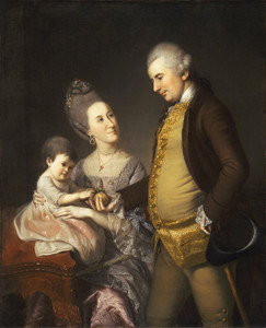 Art Prints of John and Elizabeth lloyd Cadwalader by Charles Willson Peale