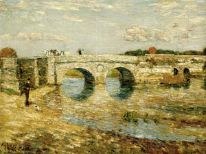 Art Prints of Bridge Over the Stour by Childe Hassam