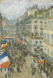Art Prints of July Fourteenth, 1910, Rue Daunou by Childe Hassam