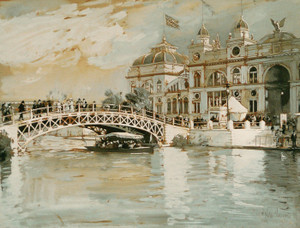 Art Prints of The Universal Exposition in Chicago by Childe Hassam