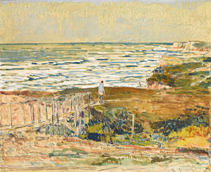 Art Prints of Montauk Fisherman by Childe Hassam