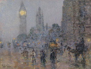 Art Prints of Nocturne, Big Ben by Childe Hassam