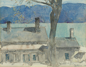 Art Prints of Old House, Newburgh New York by Childe Hassam