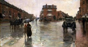 Art Prints of Rainy Day, Boston by Childe Hassam