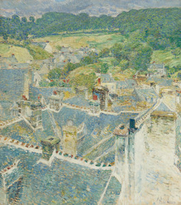 Art Prints of Rooftops, Pont Aven, Brittany by Childe Hassam