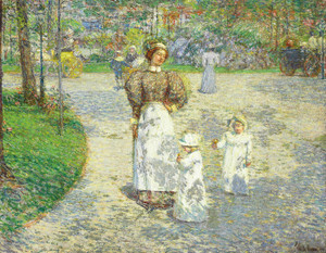 Art Prints of Spring in Central Park, 1908 by Childe Hassam
