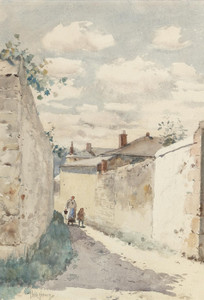 Art Prints of Street Auvers Sur L'Oise by Childe Hassam