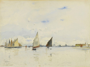 Art Prints of The Lagoon, Venice by Childe Hassam