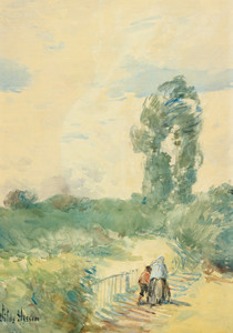 Art Prints of Two Figures in a Landscape by Childe Hassam
