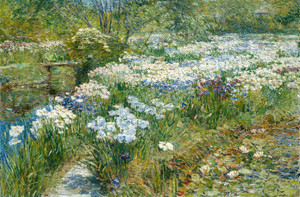 Art Prints of The Water Garden by Childe Hassam