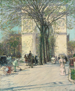 Art Prints of Washington Arch, Spring by Childe Hassam
