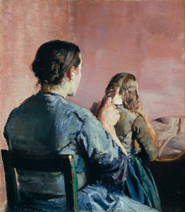 Art Prints of Braiding Her Hair by Christian Krohg