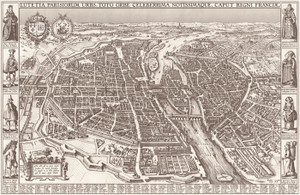 Art Prints of Map of Paris by Claes Jansz Visscher