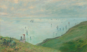 Art Prints of Cliffs at Pourville by Claude Monet