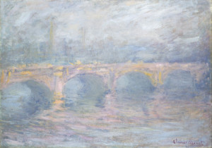Art Prints of Waterloo Bridge London, Sunset by Claude Monet